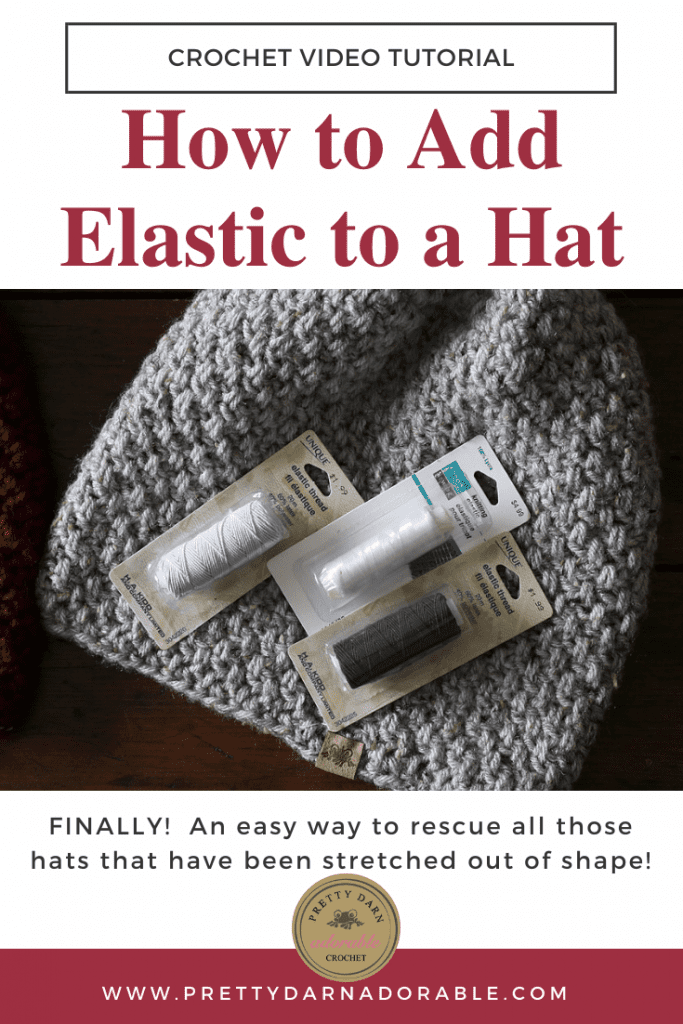 sewing elastic and hat