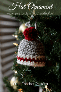 crochet hat ornament