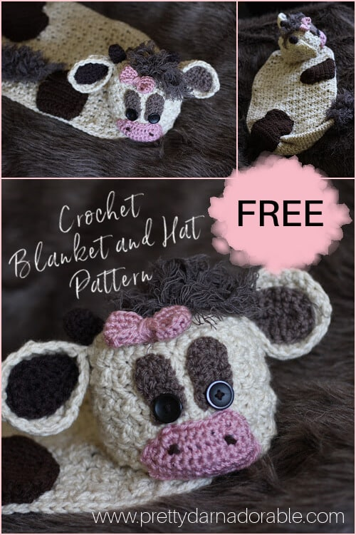 FREE CROCHET BABY BLANKET AND HAT PATTERN