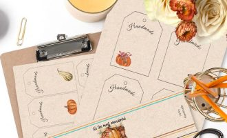 free fall handmade tags and labels