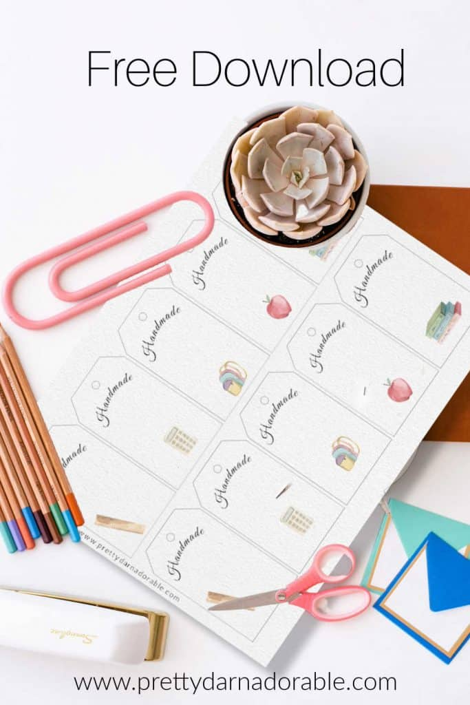 teacher and student gift tags