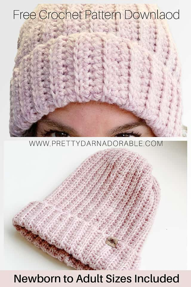 crochet ribbed hat pattern free download and video tutorial