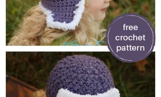 crochet aviator hat for adults and kids